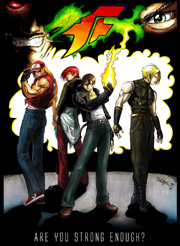 """The King of Fighters: Terry Bogard, Iori Yagami, Kyo Kusanagi, Adelheid Bernstein, Rugal Bernstein, Geese Howard"""