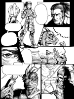 """Rising Menace: Comic Page (INK)"""